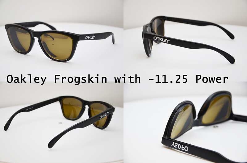 Oakley Frogskins with lenticular prescription lenses