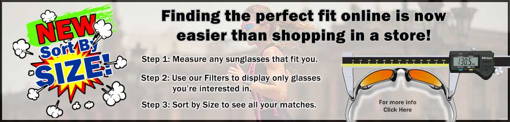 Sort Sunglasses by SIZE