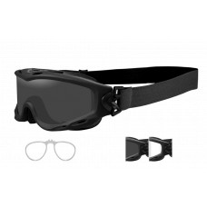 Wiley X  Spear Goggles w/ Rx Insert  Black and White