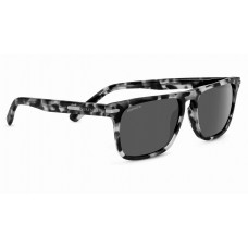 Serengeti Large Carlo Sunglasses  Black and White