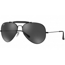 Ray Ban  RB3025 Aviator Large Metal Sunglasses  Black and White