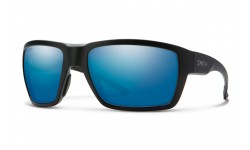 Smith-Highwater-Matte-Black-Polarized-Chromapop-Blue-Mirror-Prescription