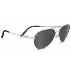 Serengeti  Brando Sunglasses  Black and White