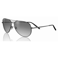 Serengeti  Medium Aviator Sunglasses  Black and White