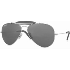 Ray Ban  RB3422 Craft Outdoorsman Sunglasses  Black and White