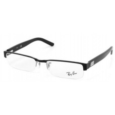 Ray Ban  RB6182 Eyeglasses Black and White