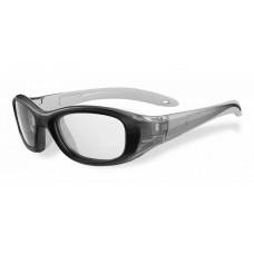 Bolle  Coverage Youth Sports Glasses  Black and White