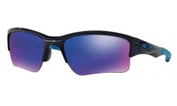 Oakley -Quarter-Jacket-Polished-Navy-Positive-Red-lridium-Prescription