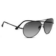 Serengeti  Large Aviator Sunglasses  Black and White