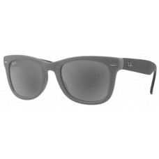 Ray Ban RB4105 Folding Wayfarer Sunglasses  Black and White