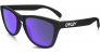 Oakley-Frogskins-Matte-Black-Violet-Iridium-Prescription